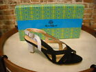 Hot  in Hollywood Black & Gray Colorblock Strappy Sandals NEW