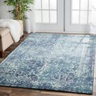BLUE Silver Cream Modern Rug Large Floor Mat Carpet FREE DELIVERY*