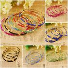Fashion Girls Womens Colorized Beads Jewelry Gold Plated Lovely Bracelet Bangle