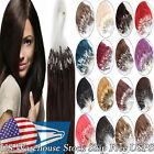 Micro Ring Beads Loop Tip Brazilian Remy Human Hair Extensions 20Inch 0.5gram 7A
