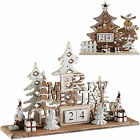 Wooden Tree/Reindeer Christmas Scene Advent Calendar Christmas Decoration