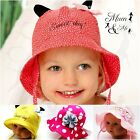 Baby Girls Hat Summer Beanie Tie Up Cap Sun Protection Bonnet Beach Hat