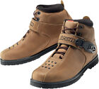 Icon Mens Brown Super Duty 4 Motorcycle Boots