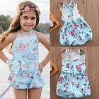 Newborn Infant Baby Girl Summer Bodysuit Sunsuit Romper Jumpsuit Playsuit Outfit