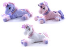 "NEW 15"" UNICORN PLUSH SOFT TOYS CUDDLY HORSE TEDDY PINK PURPLE WHITE UNICORNS"