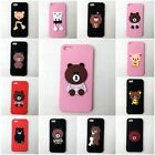 Soft Slicone Phone Case Cover With Cartoon Bear Charms Fit for Iphone 5 /5S/SE