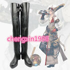 NEW Final Fantasy 14 Machinist Black Long Cosplay Shoes Boots  AA.4177
