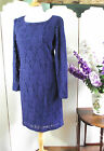 INWEAR CORNFLOWER BLUE LACEY SHIFT PENCIL WIGGLE DRESS SIZE 8 10 12 16 18 BNWT X