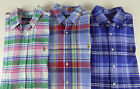 Polo Ralph Lauren Long Sleeve Plaid Oxford Cotton Shirt w/ Pony $89 NWT 3 Colors