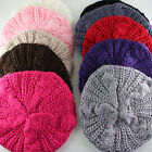 Women Lady Winter Warm Knitted Crochet Braided Slouch Baggy Beret Beanie Hat Cap