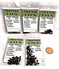 Wapsi Black Mono Eyes 24 eyes/ package Choice of Size & Quantity ( 1 Pack)