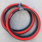 PAIR OF PRIMO BMX BIKE STEVIE CHURCHILL 20 X 245 BICYCLE TIRES RED BLACK