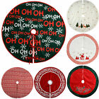 Christmas Tree Skirt Decoration Snowflake Ho Ho Ho Santa Reindeer Poinsettia