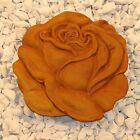 Cast Stone Cement Concrete Rose Stepping Stone Outdoor Garden Art