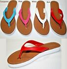 LADIES WOMAN FASHION THONG SANDALS PINK  TURQUOISE RED WHITE  5 6 7 8 9 10 11
