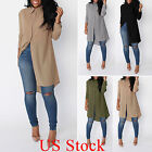 Fashion Women Summer Tunic Tops Blouse Loose Casual Chiffon Shirt Dress US STOCK