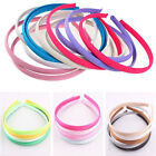 Wholesale 10PCS LOTS 10mm Colored Covered Satin Headband Plastic Hair Tool