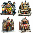 Pre-Lit LED Musical Animated Christmas Scene Decoration Santas Workshop Grotto