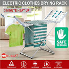 Portable Electric Clothes Horse Dryer Heated Towel Rail Airer Laundry Rack 220W