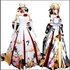 Fate Grand Order saber New Year Ceremony Cranes Wedding Dress Cosplay Costume