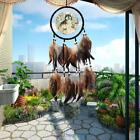 Handmade Dream Catcher With Feathers Beads Wall Hanging Decoration Ornament-Wolf