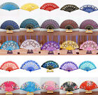 New Spanish Lace Fabric Folding Hand Held Dance Fans Flower Party Wedding Prom O