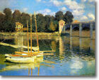 HUGE Monet Bridge Argenteuil Stretched Canvas Giclee Art Print Repro ALL SIZES