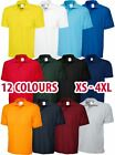 Mens & Womens Essential Polo Shirt Short Sleeve Work Polyester Cotton Top Lot