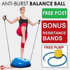 Bosu Balance Ball Yoga Gym Half Resistance Core Pilates Exercise Fitness Everfit