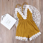 Lace Toddler Baby Girl Strap One-piece Romper Jumper Jumpsuit Summer Clothes