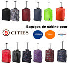 5 Cities Léger 55x35x20cm 42L Cabine Bagages Sac Air France Ryanair Easyjet BA