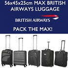 BRITISH AIRWAYS 56x45x25 MAX GRAND CABINE PORTER DE LA MAIN VALISE BAGAGE