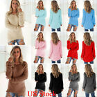 Kyпить Women Ladies Casual Pullover Loose Sweater Long Sleeve Jumper Tops Tunic Coat US на еВаy.соm
