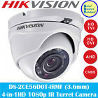 HIKVISION 4-in-1 DS-2CE56D0T-IRMF 2MP 3.6MM CCTV HD 1080p EXIR Turret Camera