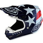 NEW 2018 TROY LEE DESIGNS SE4 FREEDOM COMPOSITE MX HELMET BLUE ALL SIZES