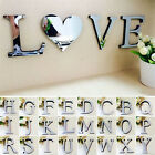 O 26 Letters DIY 3D Mirror Acrylic Wall Sticker Decals Home Decor Wall Art Mural