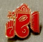 Ganesha / Elephant Deity RED Lapel Pin - 7 Colors Available