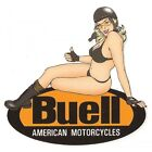 Sticker BUELL A.M left Pin up gauche°