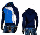 Fashion Men Casual Hoodies Slim Hooded Pullover Coat Jacket Sweatshirt Outwear u
