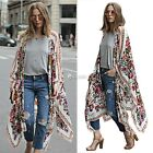 Women Summer Short Sleeve Beach Cover Up Chiffon Cardigan DZ8801