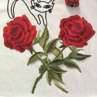 On Patch Sticker Rose Flower Embroidery Applique For Clothes/Hat/Bags/Shoes