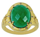 Sterling Silver Green Onyx 7.85 Ct. Ring Amazing Lady Event Occasion Top Jewelry