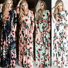 Fashion Women Summer Maxi Dress Cocktail Party Evening Floral Long Casual Dress