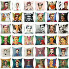 18''polyester Frida Carlo Cotton Linen Pillow Case Sofa Cushion Cover Home Decor