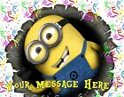 MINIONS ! Edible Cake Topper Image Frosting Sheet - quarter & half size