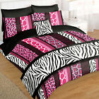 Complete 5Pc Bed in a Bag Duvet Bedding Set - Animal Print Leopard Pink Style