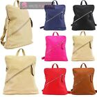 NEW LADIES FAUX LEATHER CONVERTIBLE BACKPACK RUCKSACK SHOULDER BAG