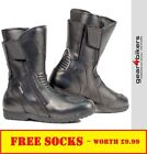 Richa Nomad WP Motorcycle Boot Touring Commuter Waterproof Motorbike Boots Black