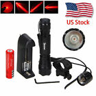 Tactical Mount Rifle Green LED Hunt 6000lm Weaver 250yards Flashlight Picatinny