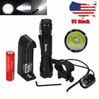 Tactical Mount Rifle Green LED Hunt 5000lm Weaver 250yards Flashlight Picatinny